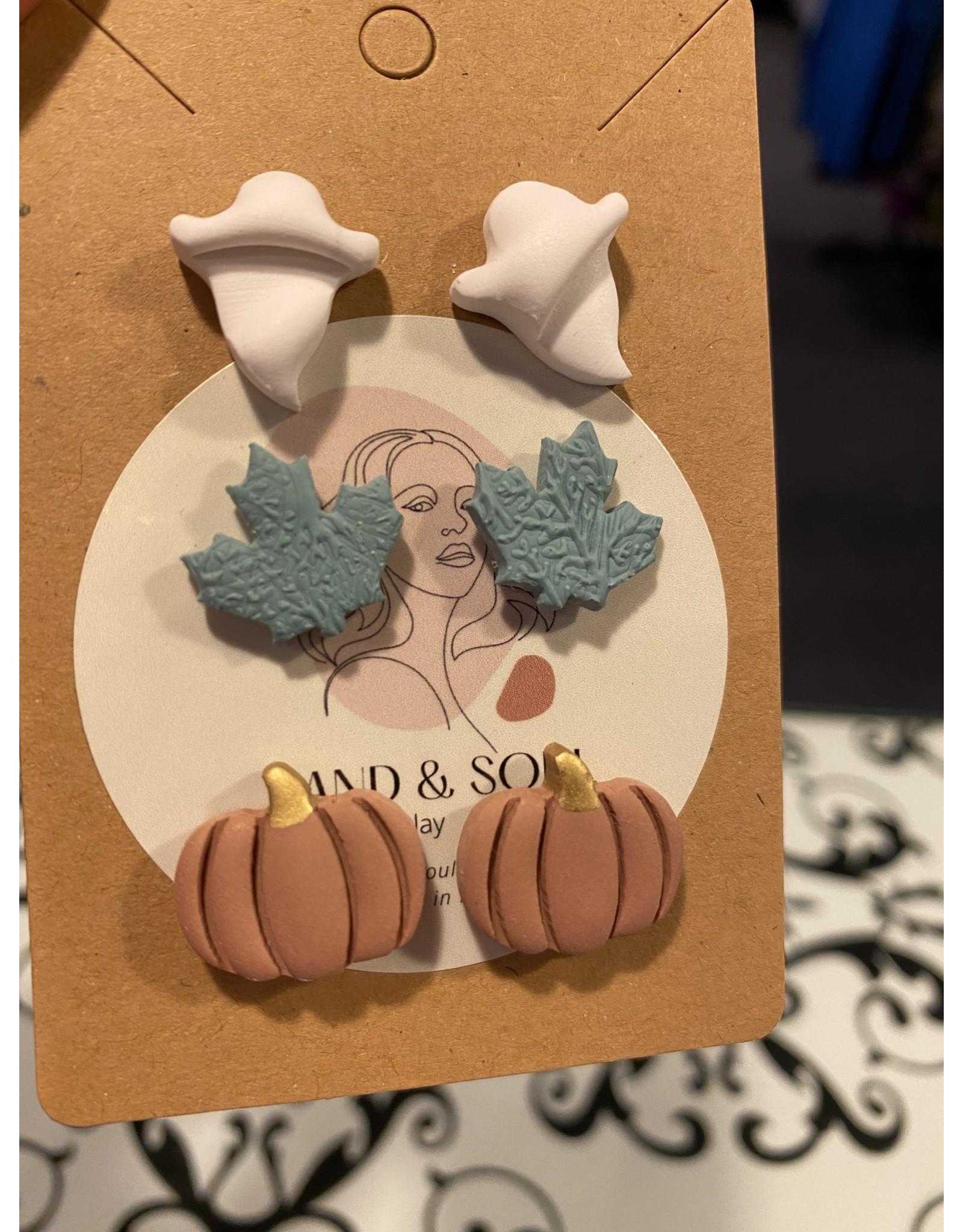 Sand & Soul Fall Stud Clay Earring Set