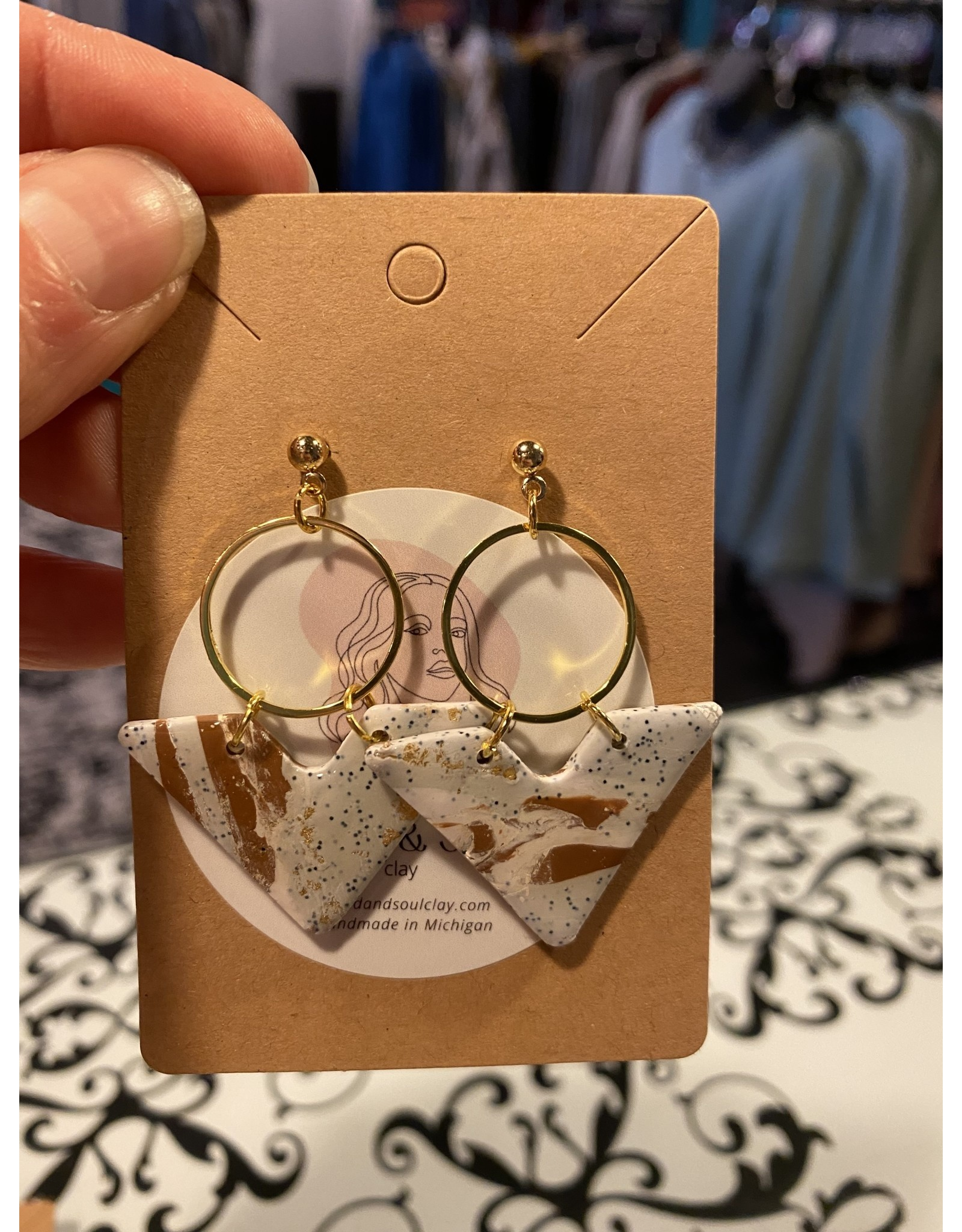 Sand & Soul Clay Post Statement Earrings