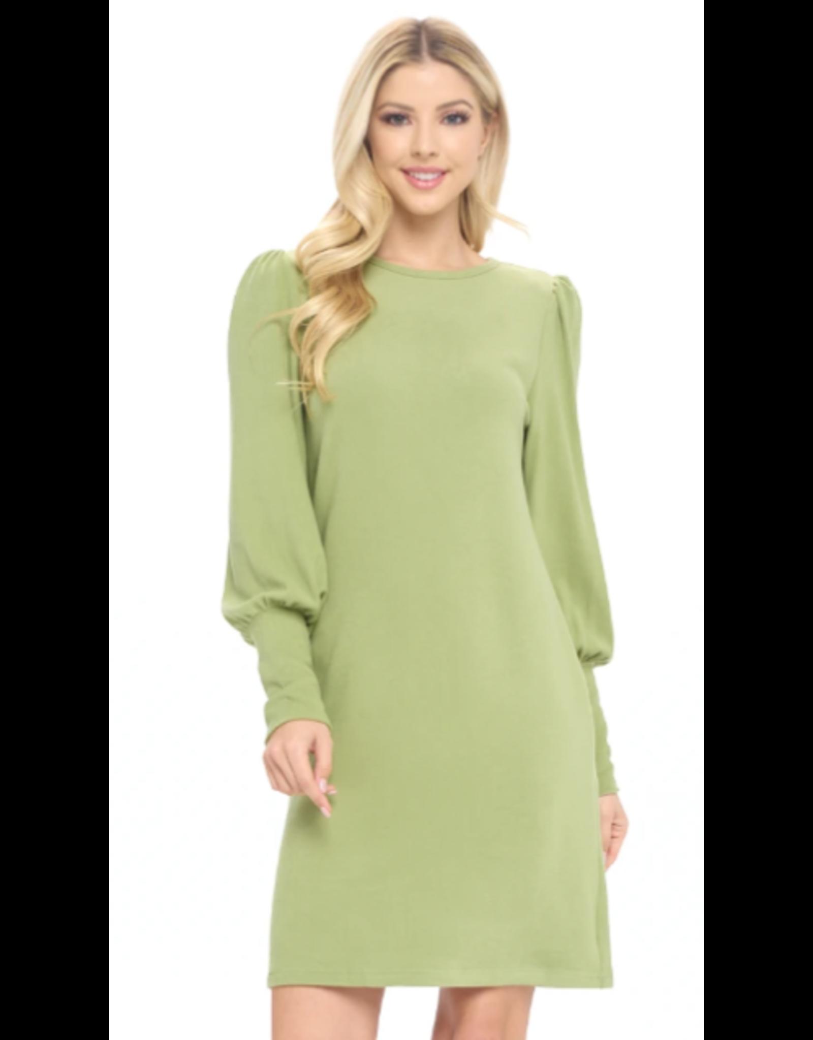 Aryeh Jolene Cuffed Sleeve Dress