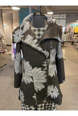 Violet Ruby Daisy Print Coat