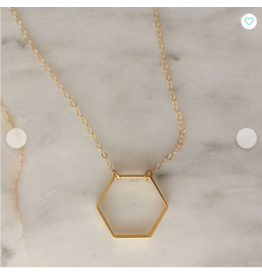 Sojourn Well Hexagon Necklace