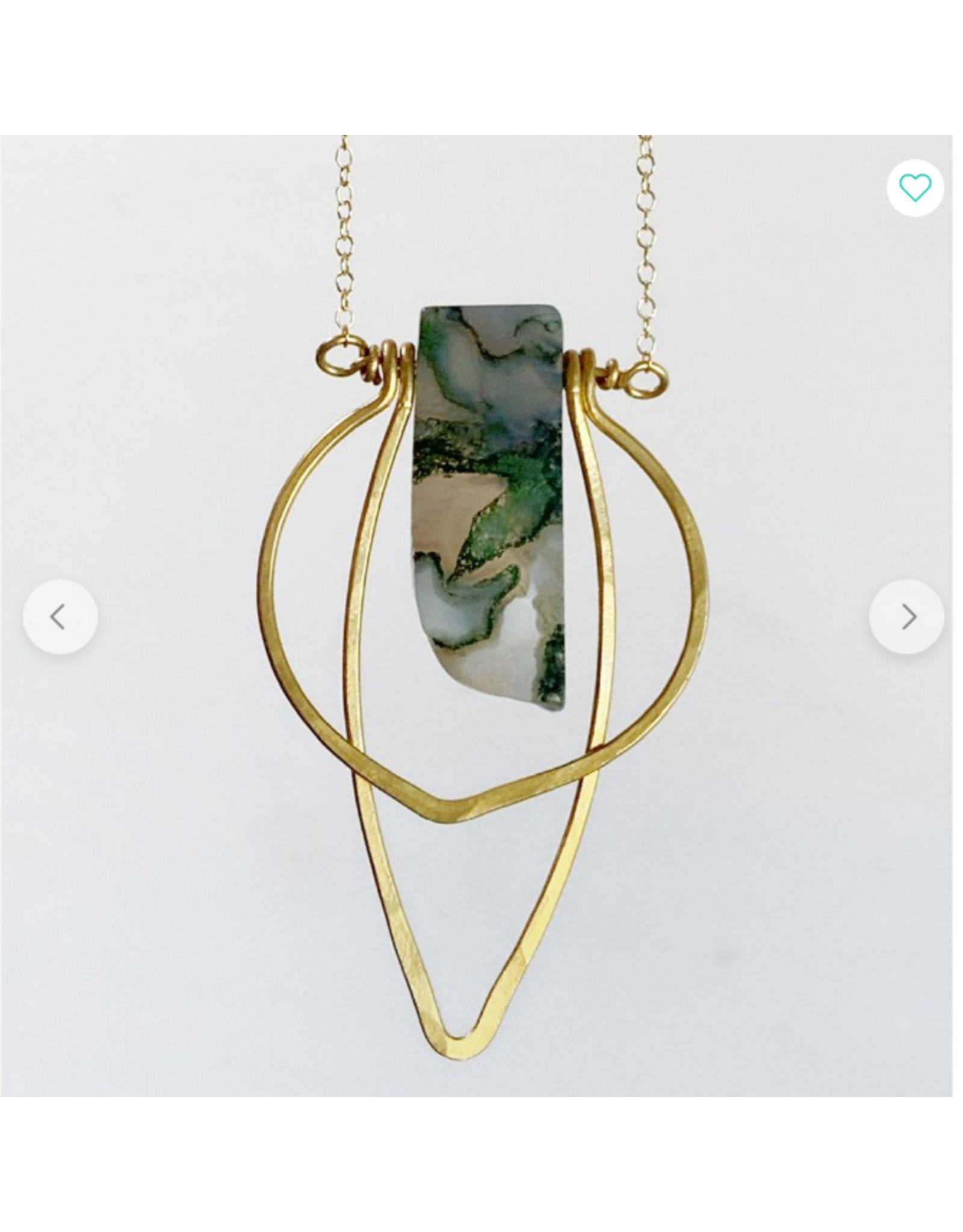 Sojourn Well Moss Agate Boho Necklace