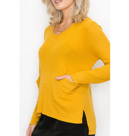 Coin1804 Front Pocket Long Sleeve Top
