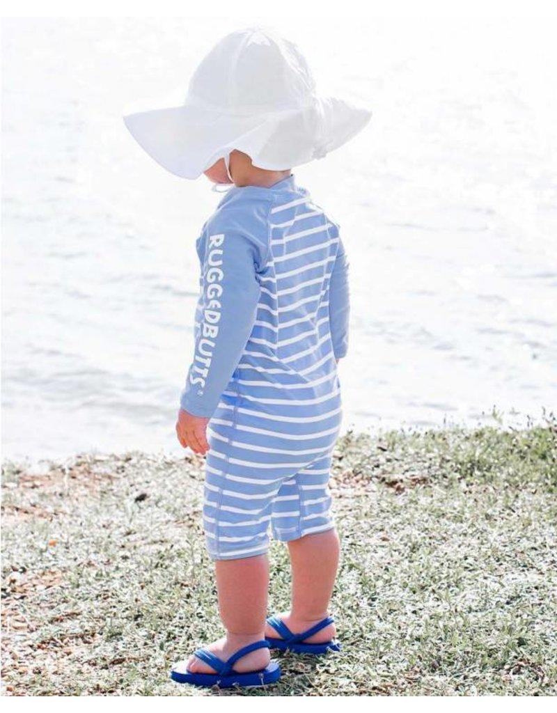 RuggedButts Cornflower Blue Stripe One Piece