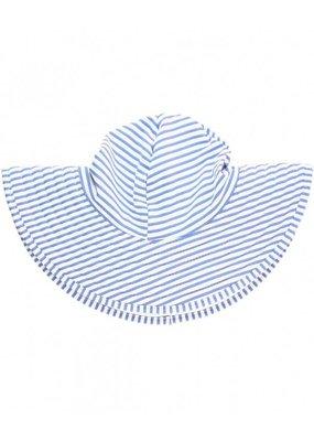 RuffleButts Periwinkle Blue Seersucker Hat