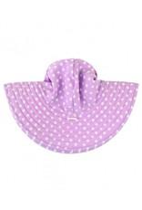 RuffleButts Lilac Polka and Stripe Reversible Hat