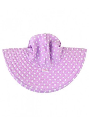RuffleButts Lilac Polka and Stripe Reversible Hat