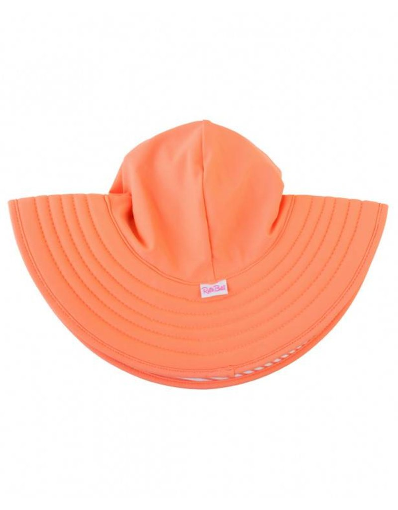RuffleButts Coral Stripe Reversible Swim Hat