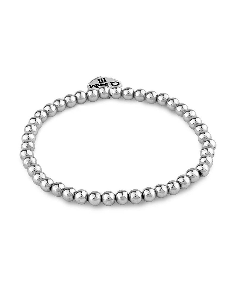 CHARM IT! 4mm Silver Bead Stretch Bracelet
