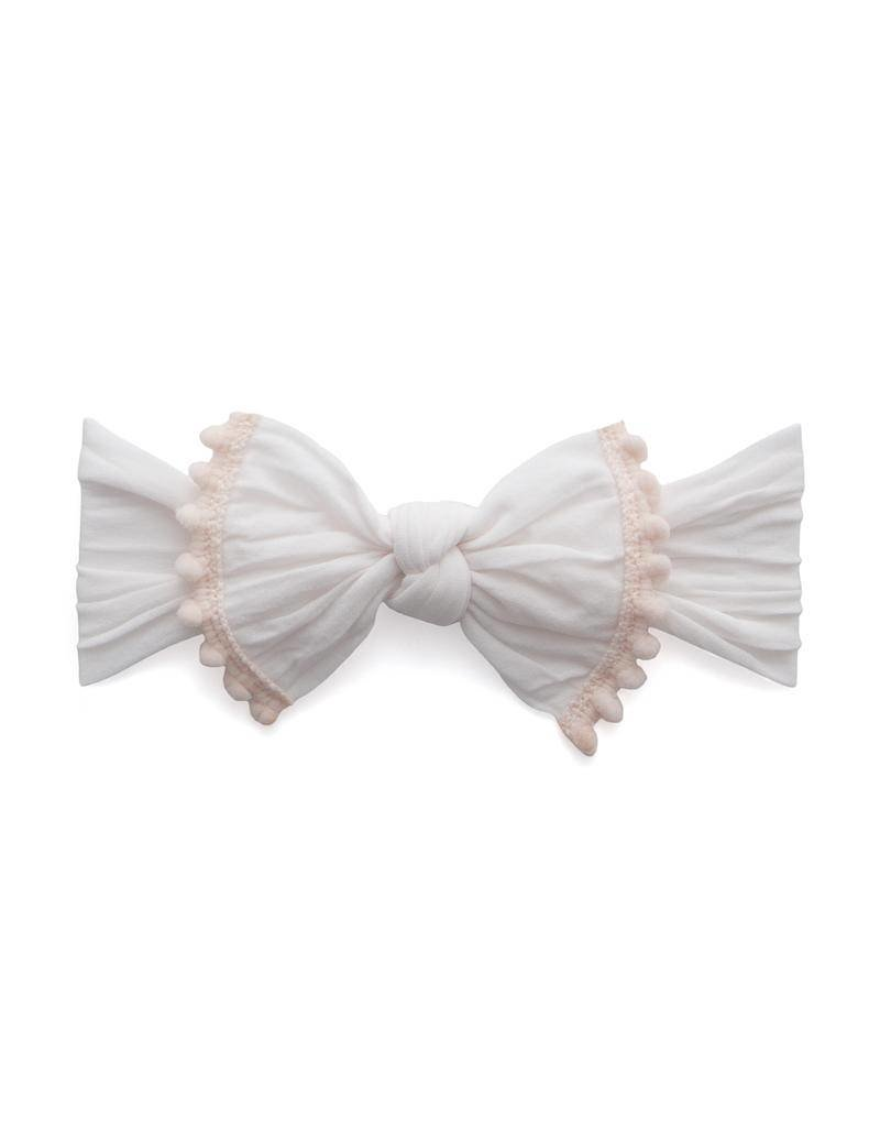 Baby Bling Trimmed Classic Knot Baby Bling Headband