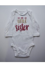 Tracy's Treasures Little Sister Gold & Pink Onesie
