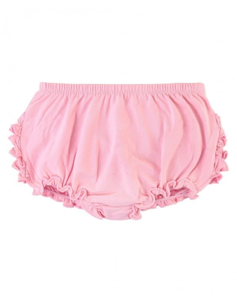 RuffleButts Pink Knit Rufflebutt