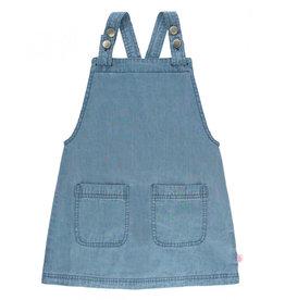 RuffleButts Light Wash Denim Jumper Dress