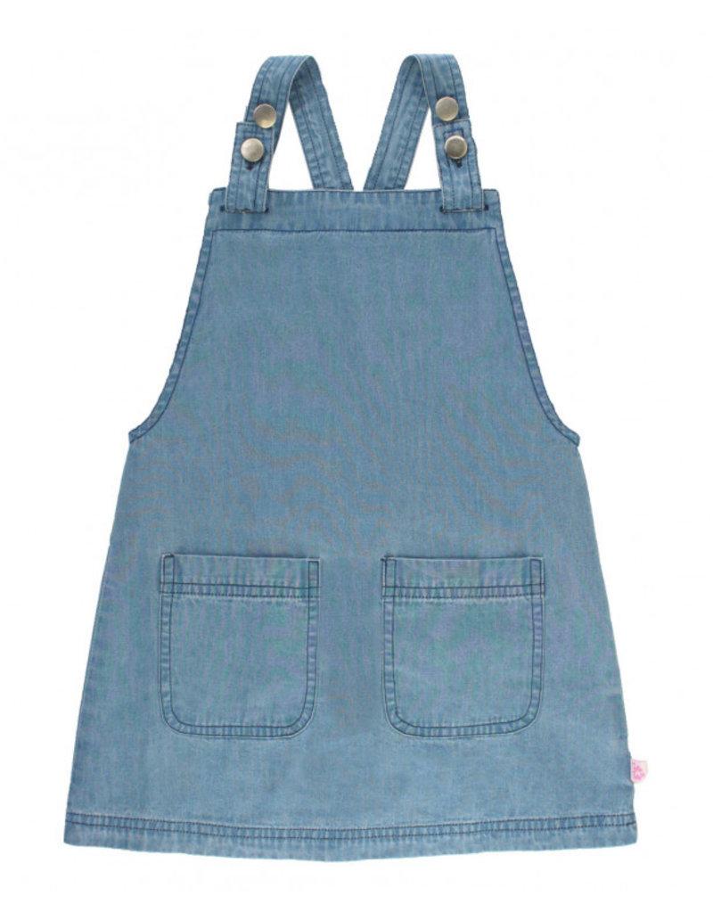 3812eee9b3 Light Wash Denim Jumper Dress Sp19 - Bows   Babes