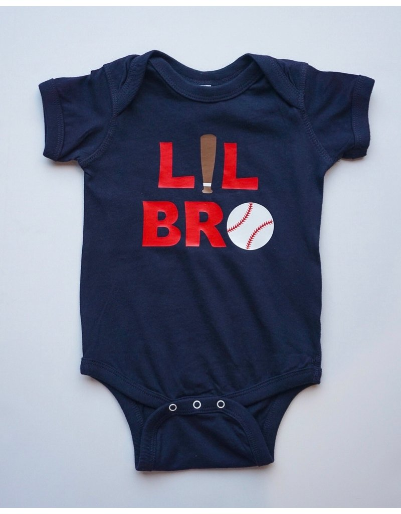 Tracy's Treasures Lil Bro Baseball Onesie