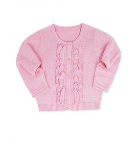 RuffleButts Pink Ruffled Cardigan