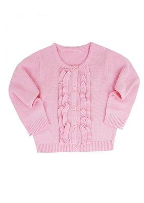 Pink Ruffled Cardigan Infant