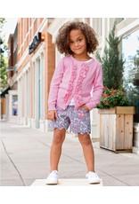 RuffleButts Pink Ruffled Cardigan Infant