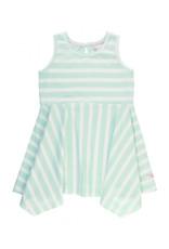 RuffleButts Seaside Stripe Handkerchief Dress