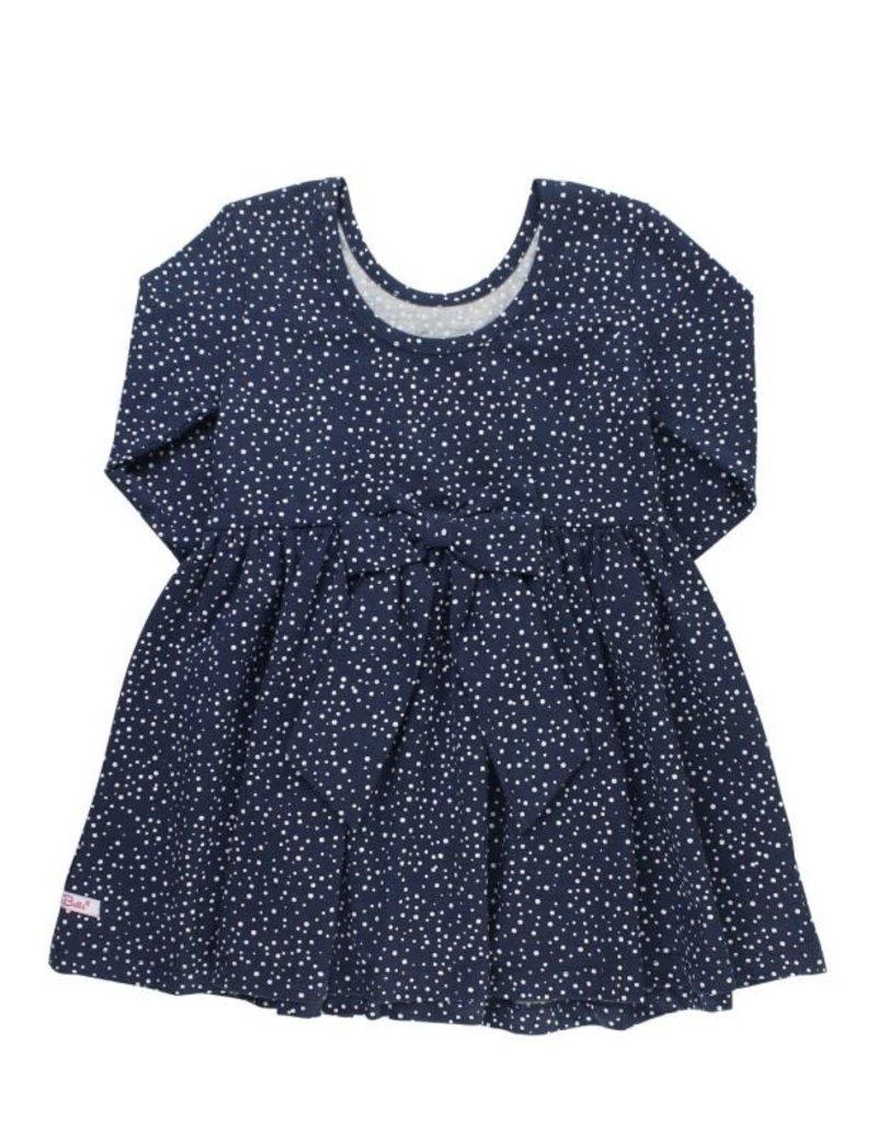 RuffleButts Navy Dot Twirl Dress