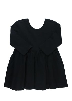 RuffleButts Black Twirl Dress
