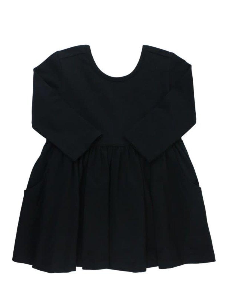 RuffleButts Black Twirl Dress