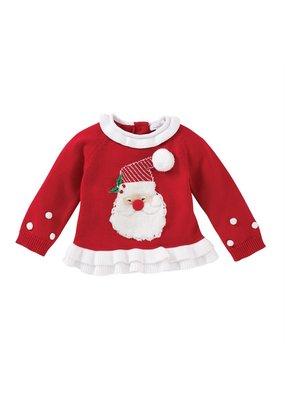 MudPie Santa Ruffle Sweater