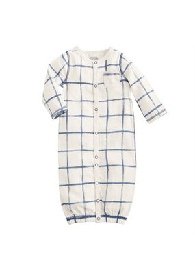 MudPie Muslin Plaid Gown 0-3m