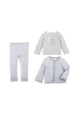 MudPie Grey Reversible 3 Piece Set