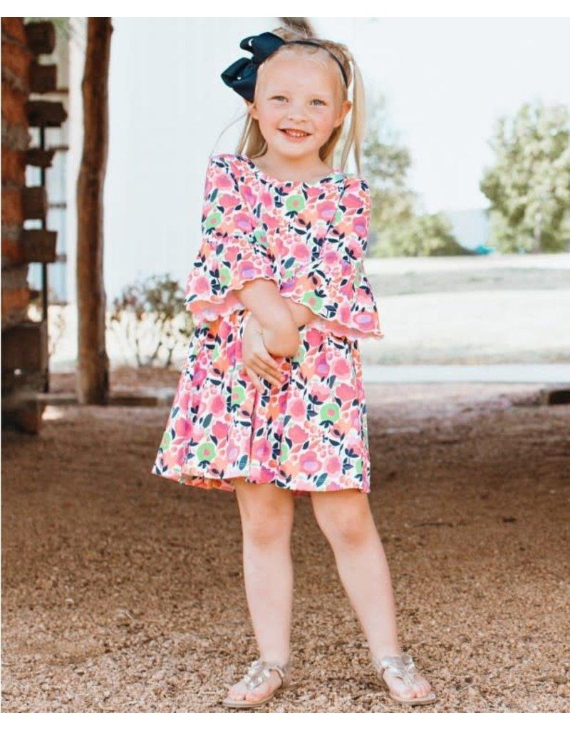 RuffleButts My Best Bud Mia Toddler Dress