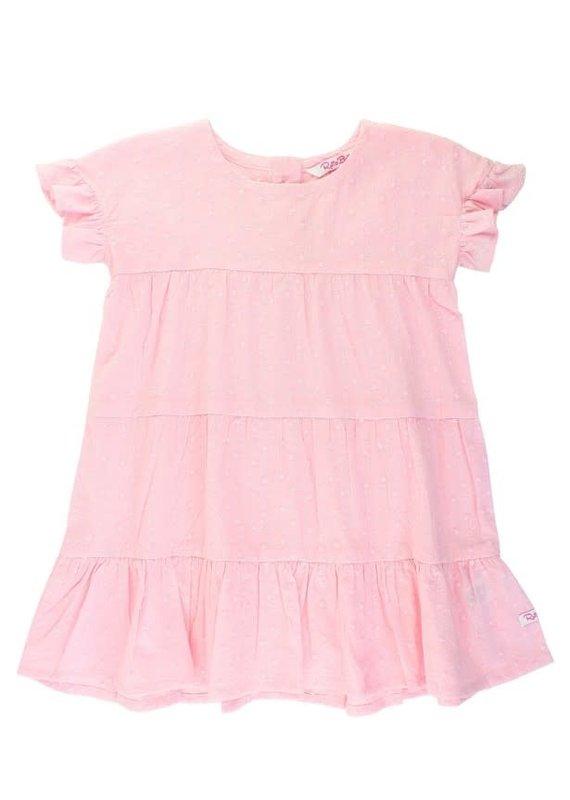 Pink Swiss Dot Tiered Dress