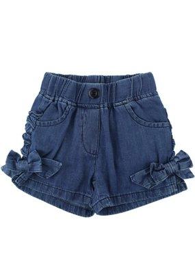 RuffleButts Denim Bow Shorts