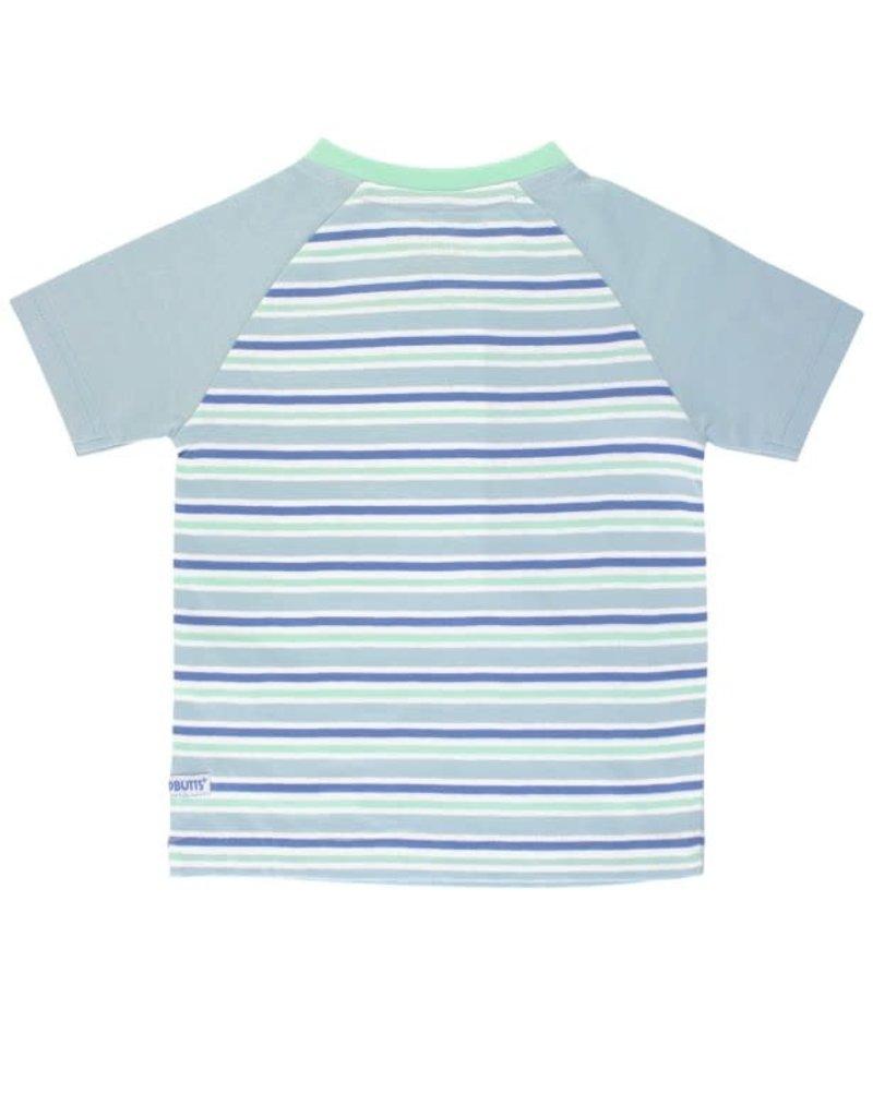 RuggedButts Blue & Neo Mint Stripe Henley