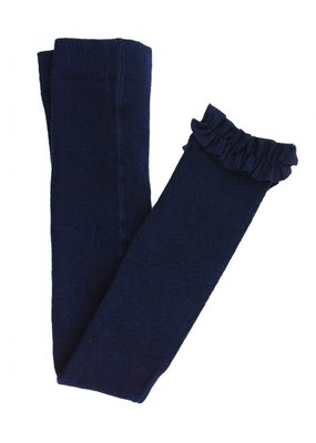 RuffleButts Navy Footless Tights