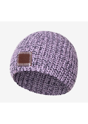 Light Purple and Navy Speckled Baby Beanie