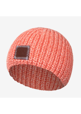 Salmon and Blush Speckled Baby Beanie