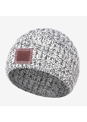 Baby Black Speckled Knit Baby Beanie
