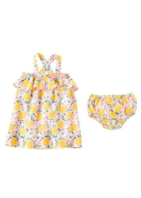 MudPie Lemon Floral Dress