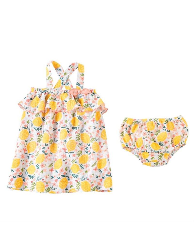 MudPie Lemon Floral Dress