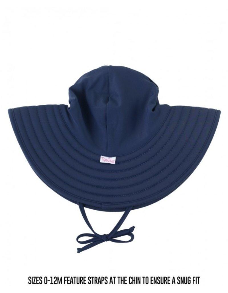 Navy Swim Hat  0-12months