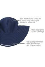 RuffleButts Navy Swim Hat 12m-2T
