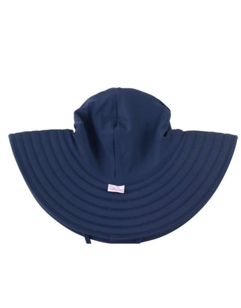 RuffleButts Navy Swim Hat 3T-5