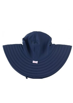 RuffleButts Navy Swim Hat 6-10