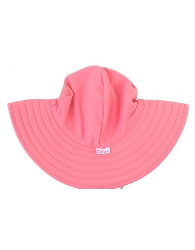 RuffleButts Rose Swim Hat 3T-5