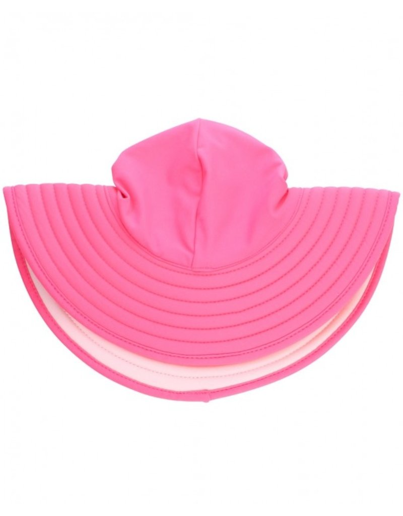 RuffleButts Candy & Pink Reversible Sun Hat 0-12m