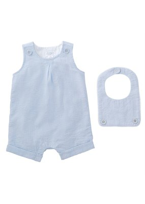 MudPie Infant Seersucker Shortall with Bib