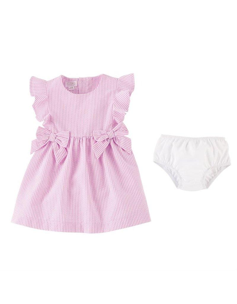 MudPie Pink Seersucker Dress