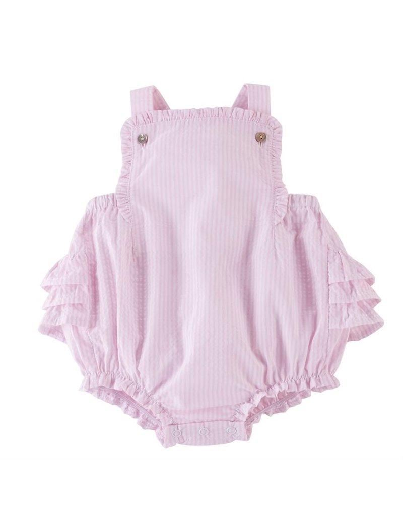 MudPie Pink Seersucker Sun Suit