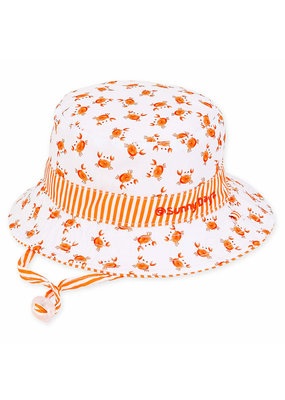 Crab Reversible Sun Hat  0-12 months