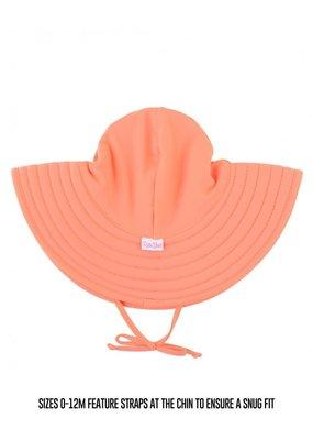 RuffleButts Coral Swim Hat 0-12 months